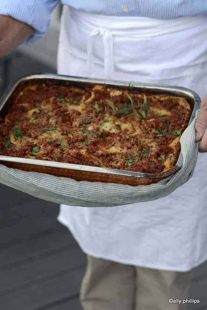 three layer meaty lasagne