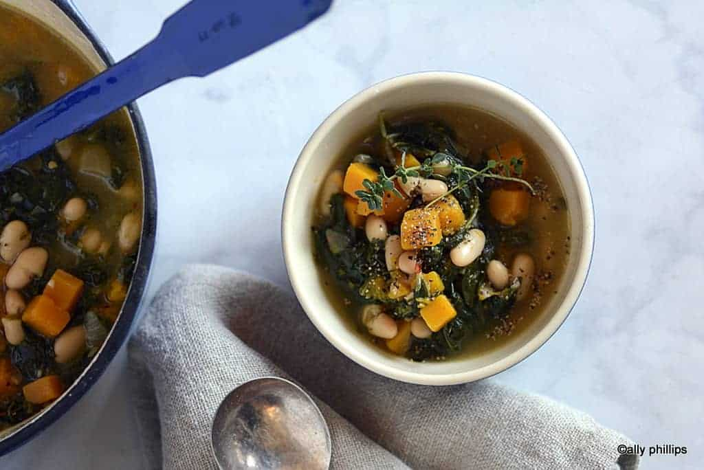 fall harvest butternut squash & collards soup