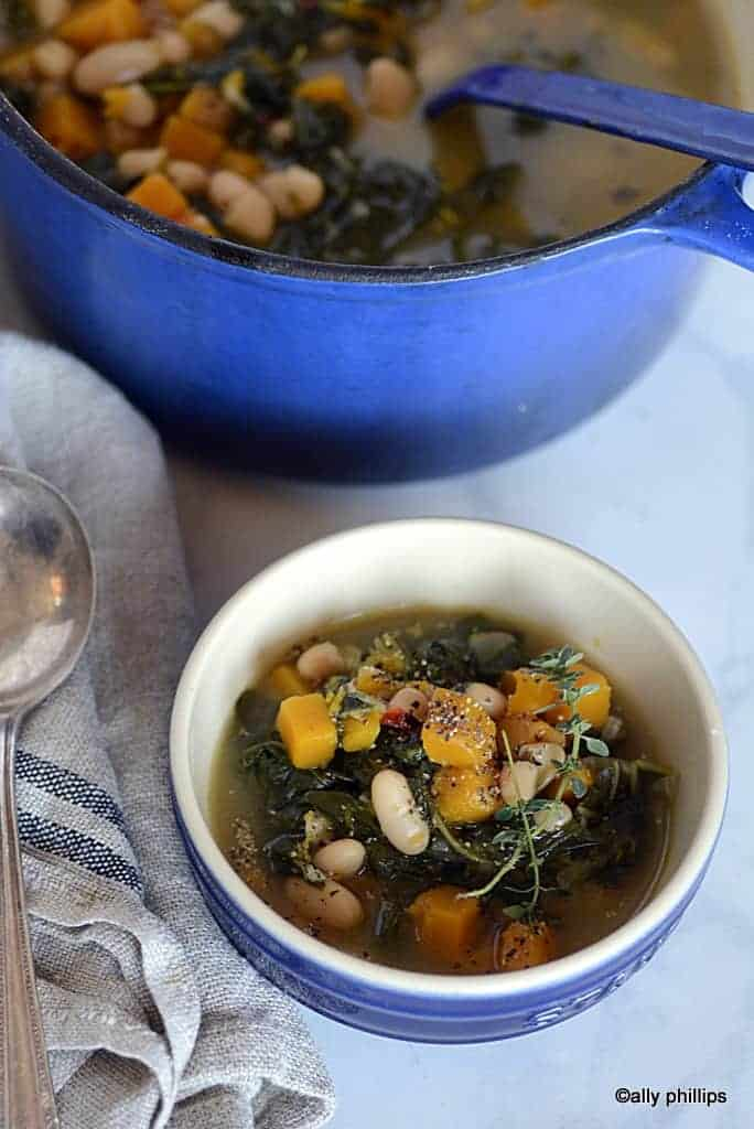 fall harvest butternut squash & collards soup