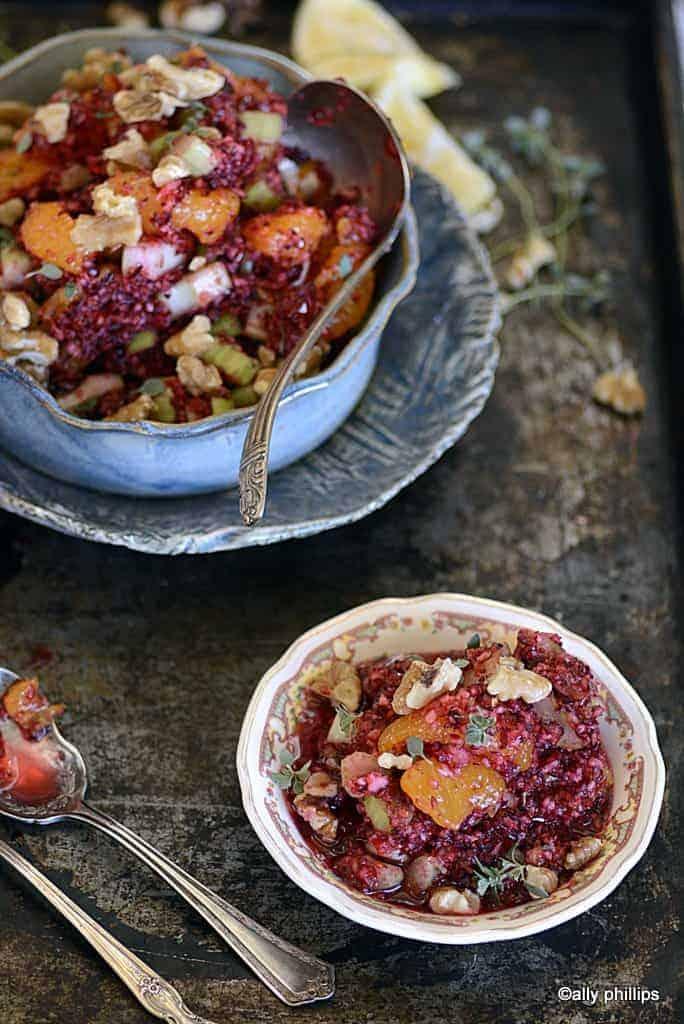 fresh cranberry mandarin nut salad