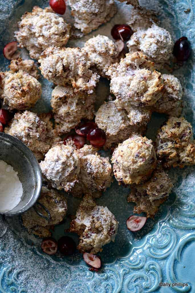 cranberry coconut cookies gf
