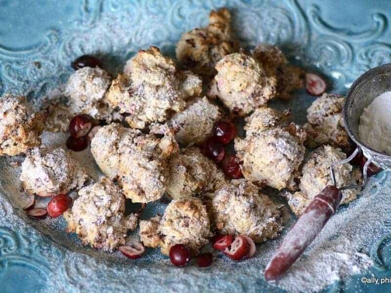 cranberry coconut cookies gf