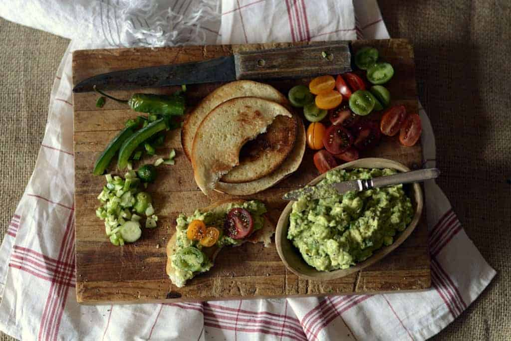 creamy avocado vegetable spread