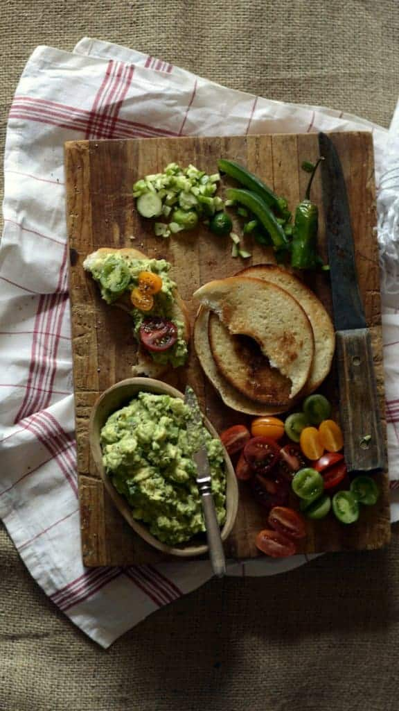creamy avocado vegetable spread