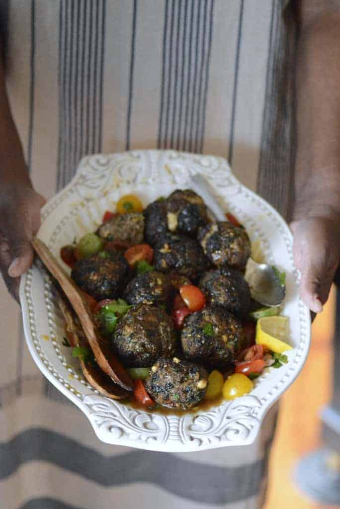 spinach feta greek meatballs