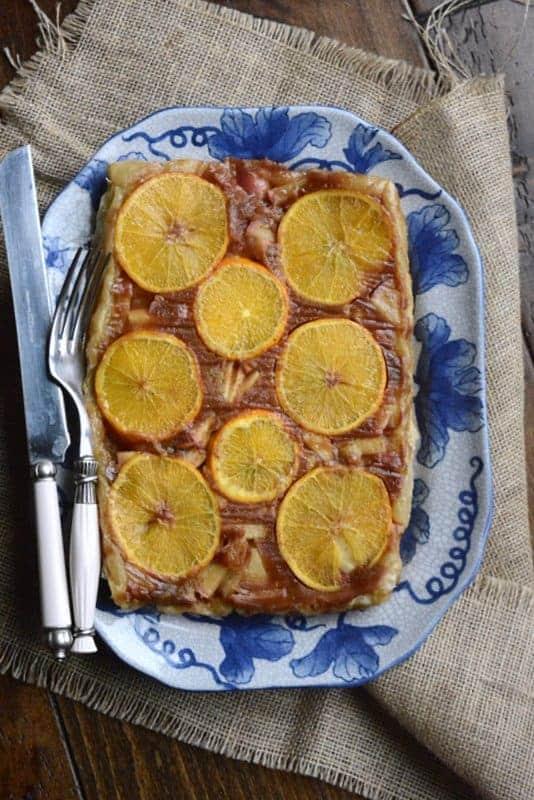orange apple upside down pie