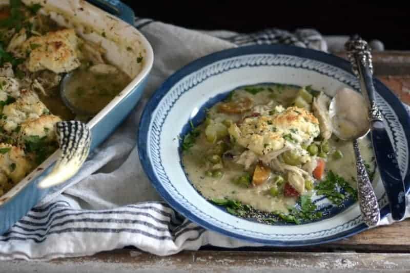 curried chicken dumplings casserole