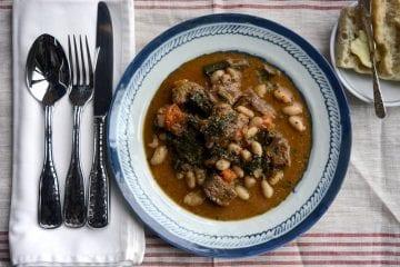 artisan beef kale bean stew