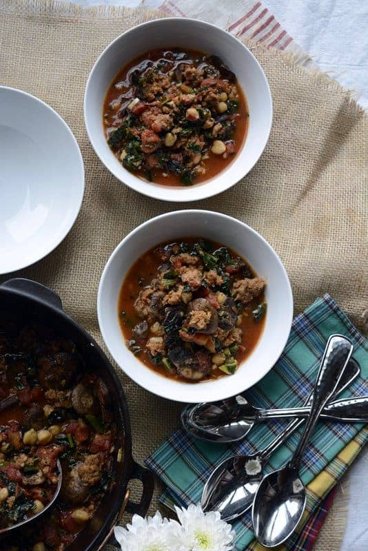 hot italian sausage kale bean paesan soup