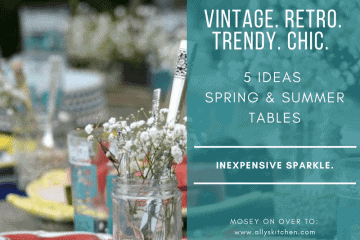 5 simple ideas for spring & summer table design