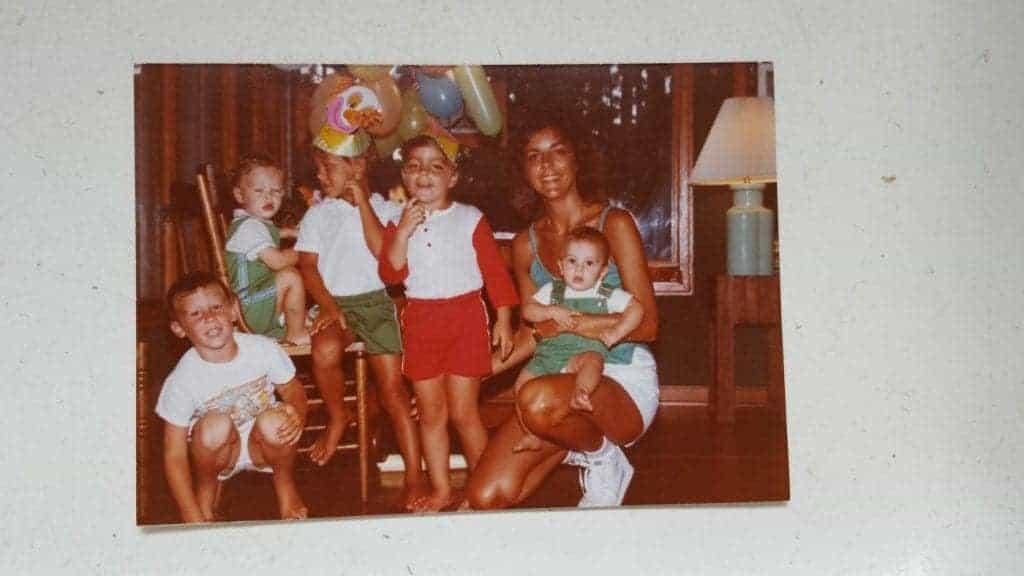 retro birthday chocolate sheet cake