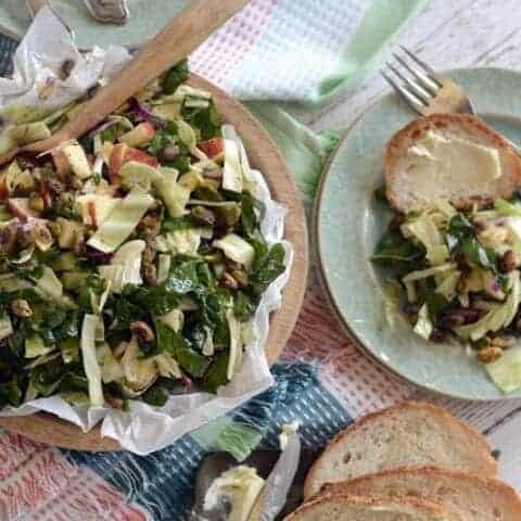 cabbage chard apple pineapple salad