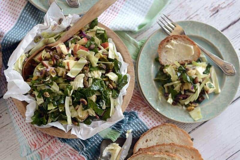 cabbage chard apple pineapple salad