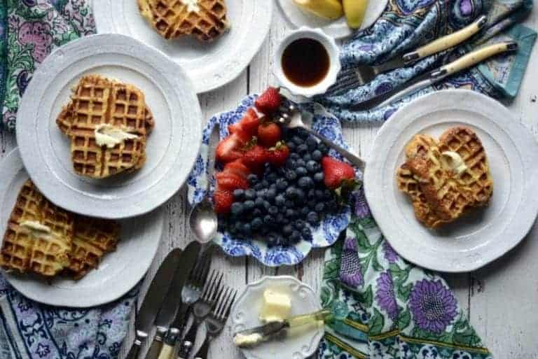 french brioche coconut milk waffle toast
