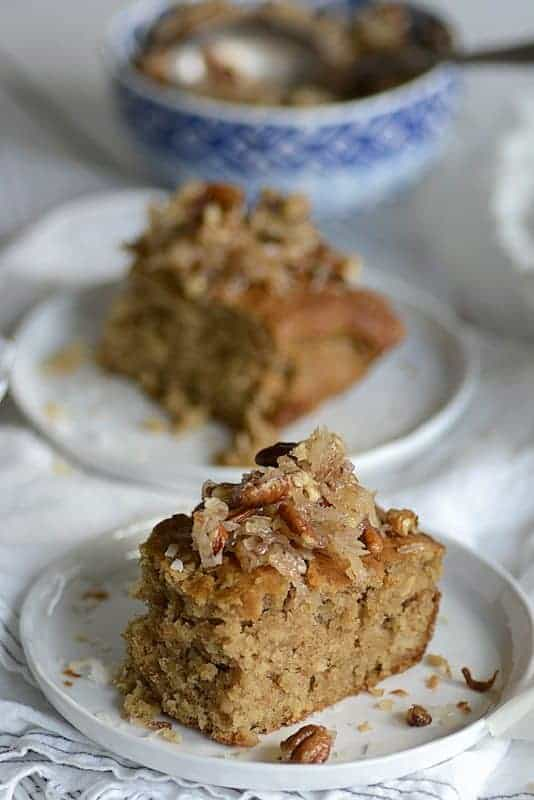 weekend coconut oatmeal pecan southern cake