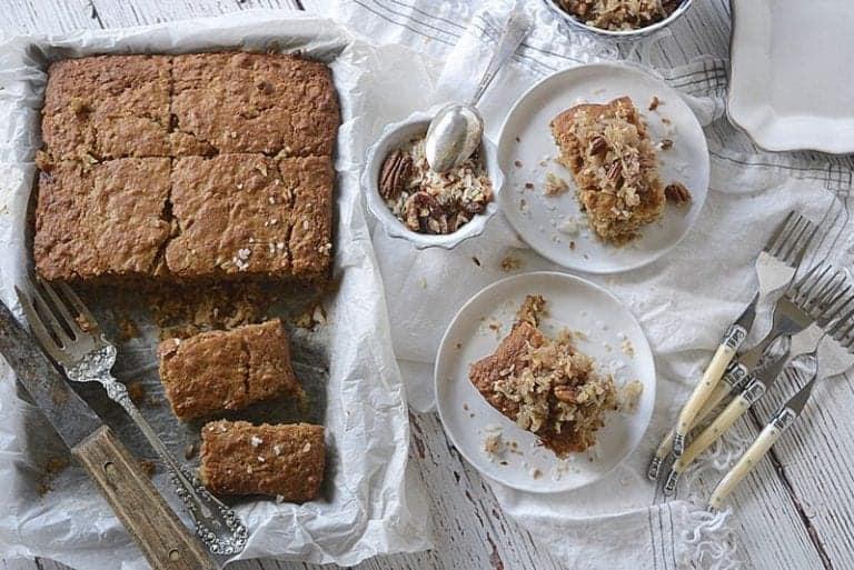 Weekend Coconut Oatmeal Pecan Southern Cake