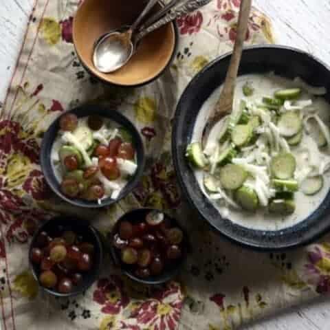 appalachian cucumber buttermilk salad