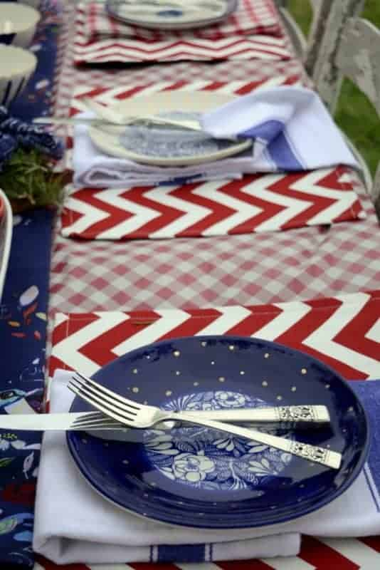 three patriotic dining table designs boho style