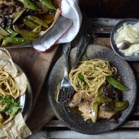 slow cooker chicken marsala and sugar snap peas