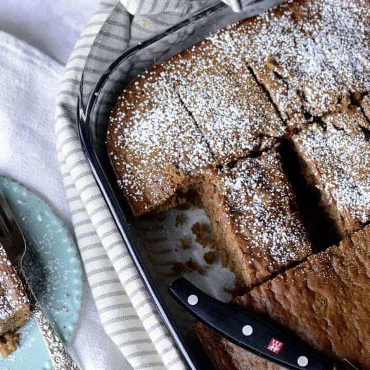 banana pumpkin walnut spice cake