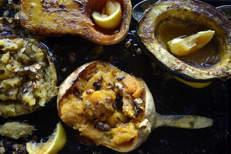 honey spiced squash bowls