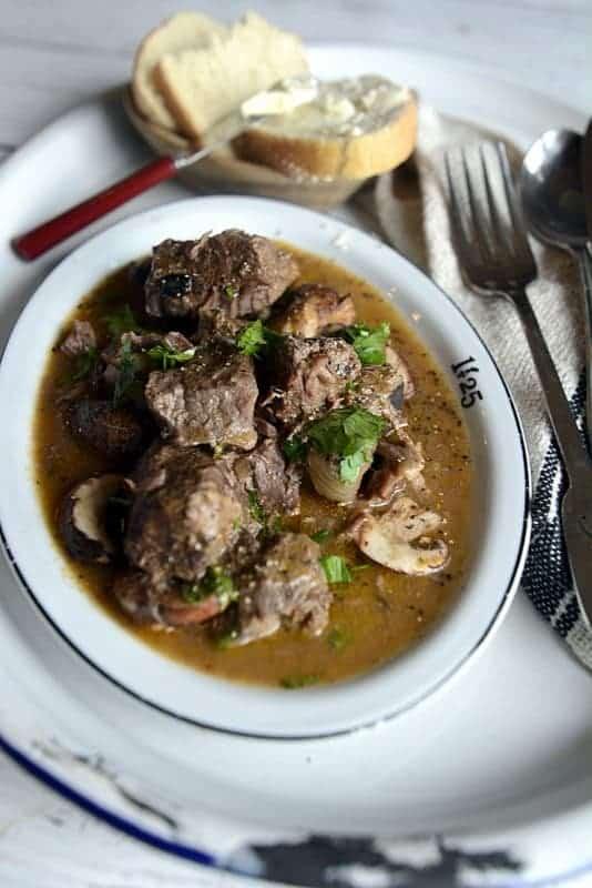 aussie grassfed beef & mushroom cowhand stew