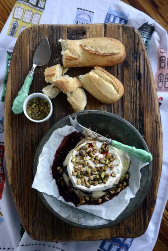 cherry bourbon baked brie