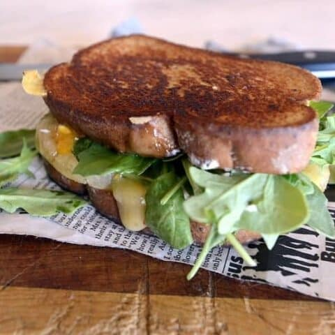 caribbean grilled double cheese sandwich
