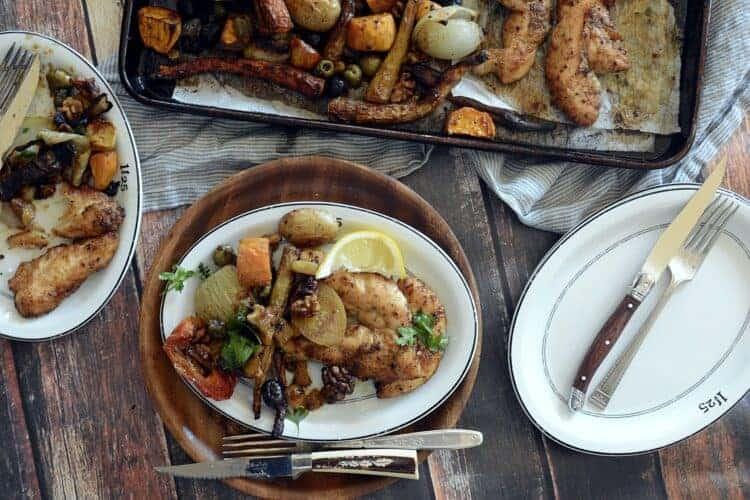 skinny girl sheet pan creole chicken