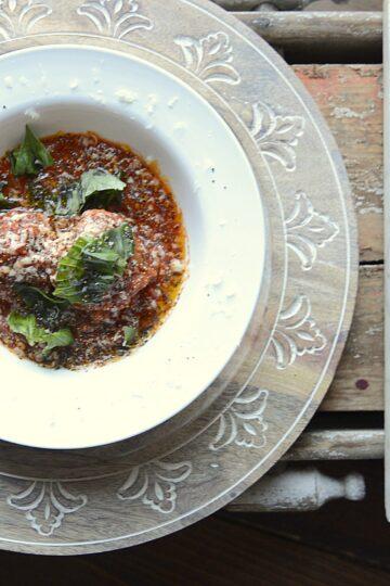 asiago fresh herb meatballs