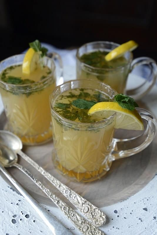pineapple mint spiked green tea