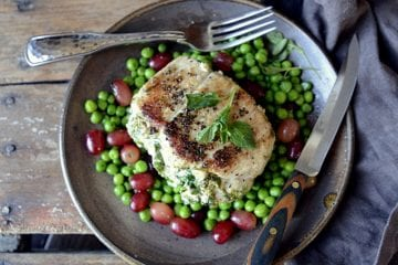 skinny girl stuffed pork chops