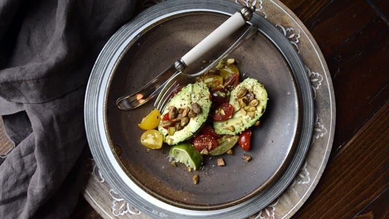 avocado tomato crunch