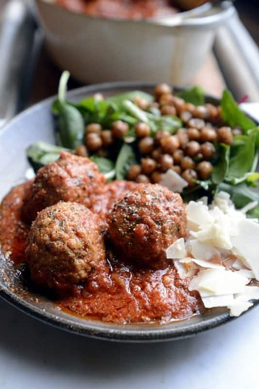 french onion lamb meatballs