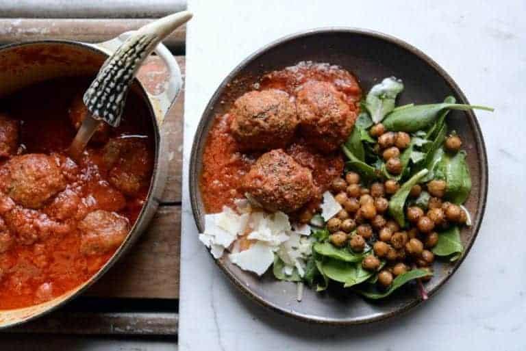 french onion lamb meatballs
