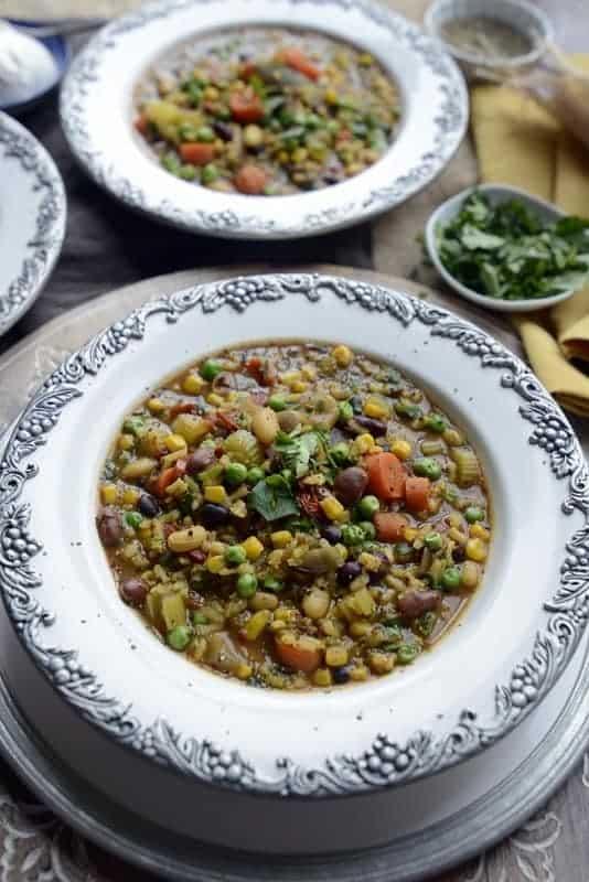 indian inspired biryani vegetable soup