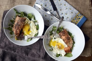simple salmon and egg salad