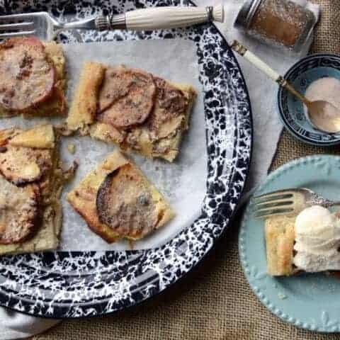 simple quick apple tart