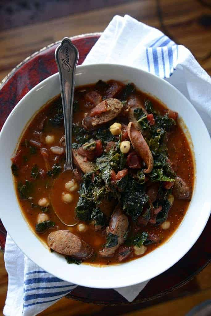 Andouille Sausage Beans & Kale Stew