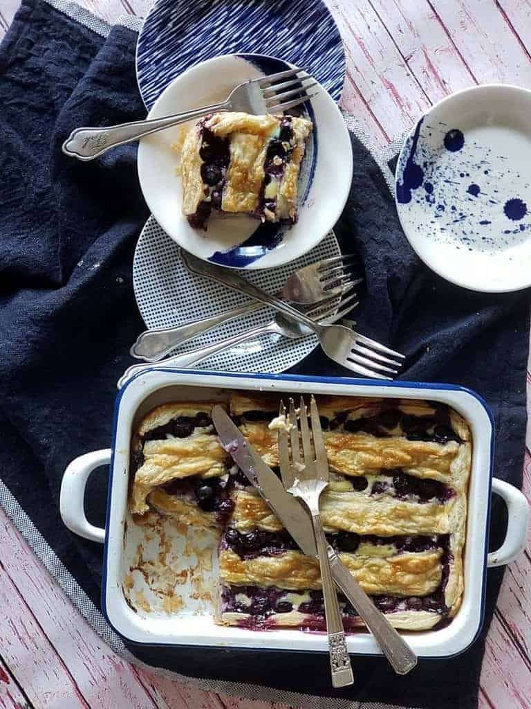 blueberry banana pie