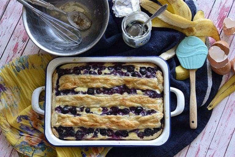 Hometown Blueberry Banana Pie