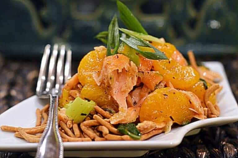 Asian Inspired Salmon & Mandarin Oranges