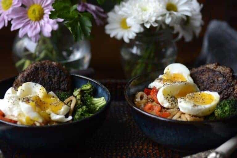 udon noodle breakfast bowl