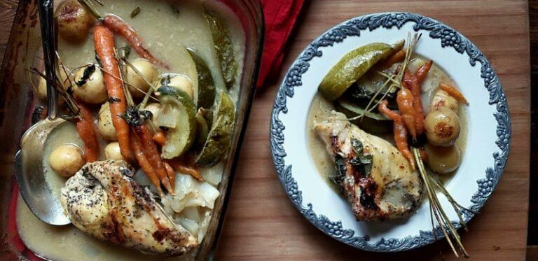 lemongrass basil easy baked chicken