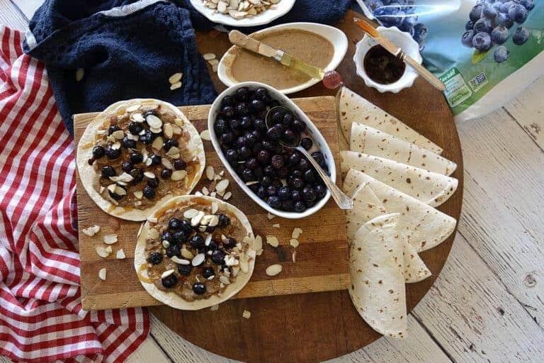 blueberry almond street roll-ups
