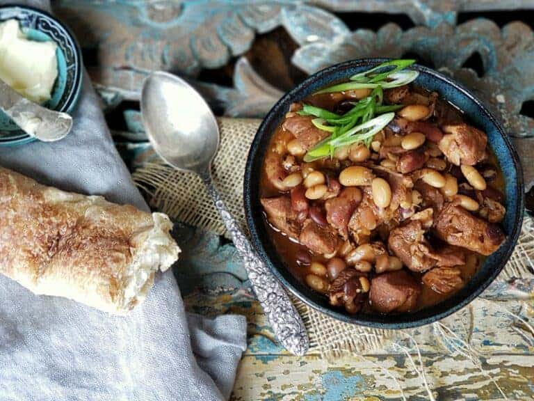 old fashioned stove top bbq pork and beans