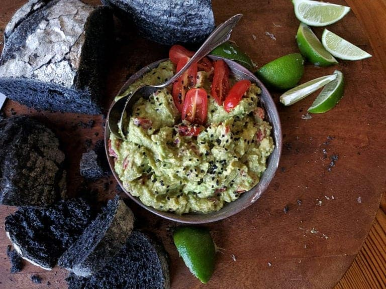 chunky lime avocado dip