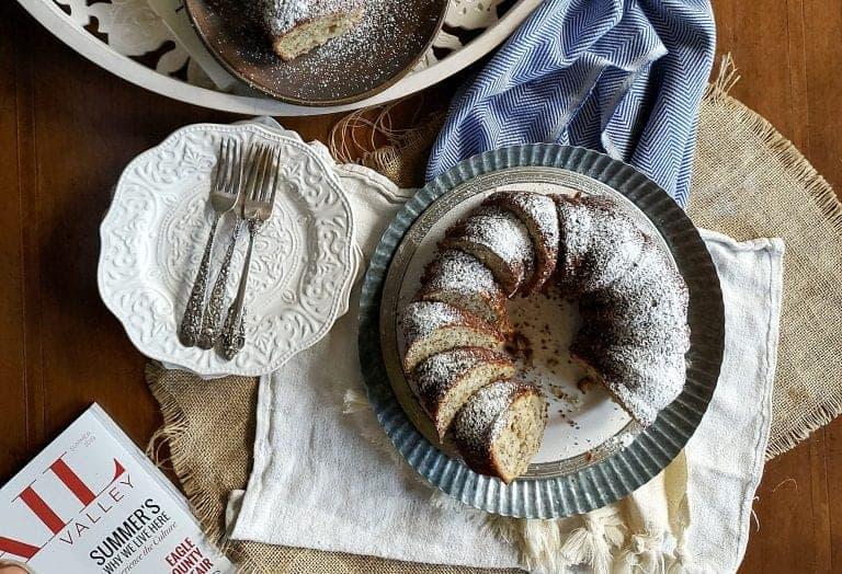 healthier banana walnut bundt cake