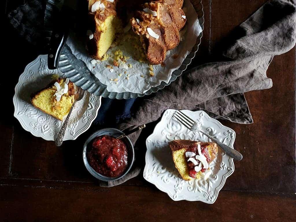 Mango Sour Cream Bundt Cake