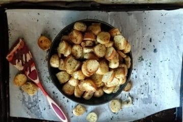 bagel garlic croutons